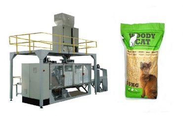 Maquinaria da embalagem da maca do gato dos sacos 5kg-25kg