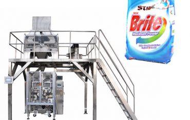 Máquina de embalagem detergente do pó de lavagem do pesador linear de 4 cabeças