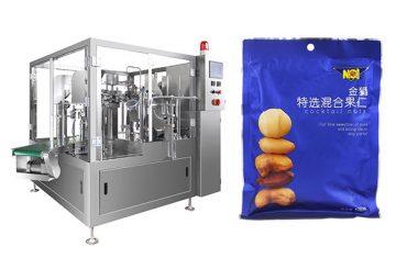 máquina de empacotamento de enchimento da selagem do grânulo do alimento do saco pre-feito