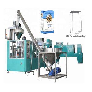 Máquina de embalagem de saco de papel pré-fabricada automática