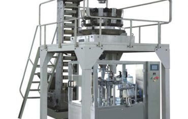 grânulo que pesa a máquina de embalagem giratória do saco premade