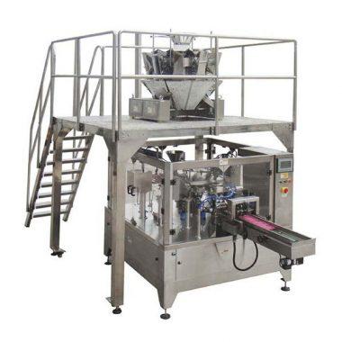 saco giratório automático do zíper da máquina de embalagem do alimento