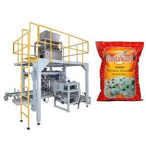 Máquina de empacotamento pesada granulada do saco grande do saco do arroz para 10kg-50