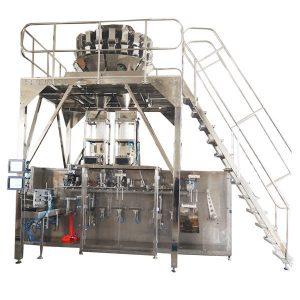 Máquina de embalagem pré-fabricada horizontal com as escalas de Multihead para grânulo