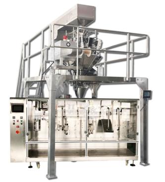 Máquina de embalagem de grãos de café torrado com balança multi cabeças para bolsa premade