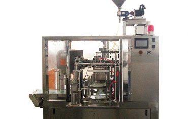 vedante rotativo de enchimento com enchimento de pistões para líquido e pasta