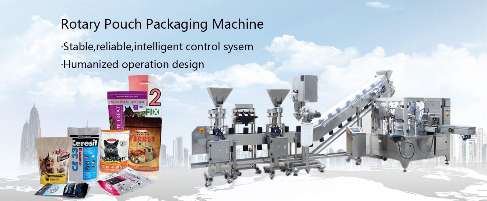 Máquina de embalagem de bolsa rotativa
