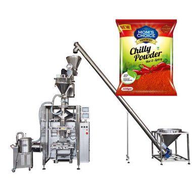 máquina de embalagem do bagger dos vffs com o enchimento do eixo helicoidal para o pó de alimento da paprika e dos pimentões