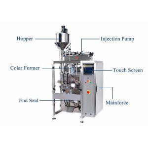 Máquina vertical do selo da suficiência do formulário com o enchimento de pistão para o líquido