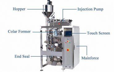 máquina de vedação de preenchimento de forma vertical líquida com enchimento de pistões