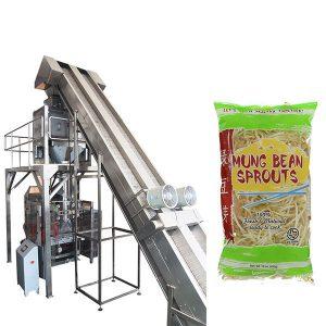 máquina de empacotamento automática cheia dos brotos de feijão